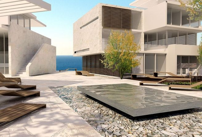 BLUE Hotel business and luxury villas-architecture erick velasco farrera, avp arhitekti