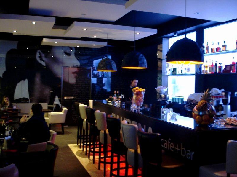 Bol caupona cafe bar architecture interior design avp for Small cafe bar design