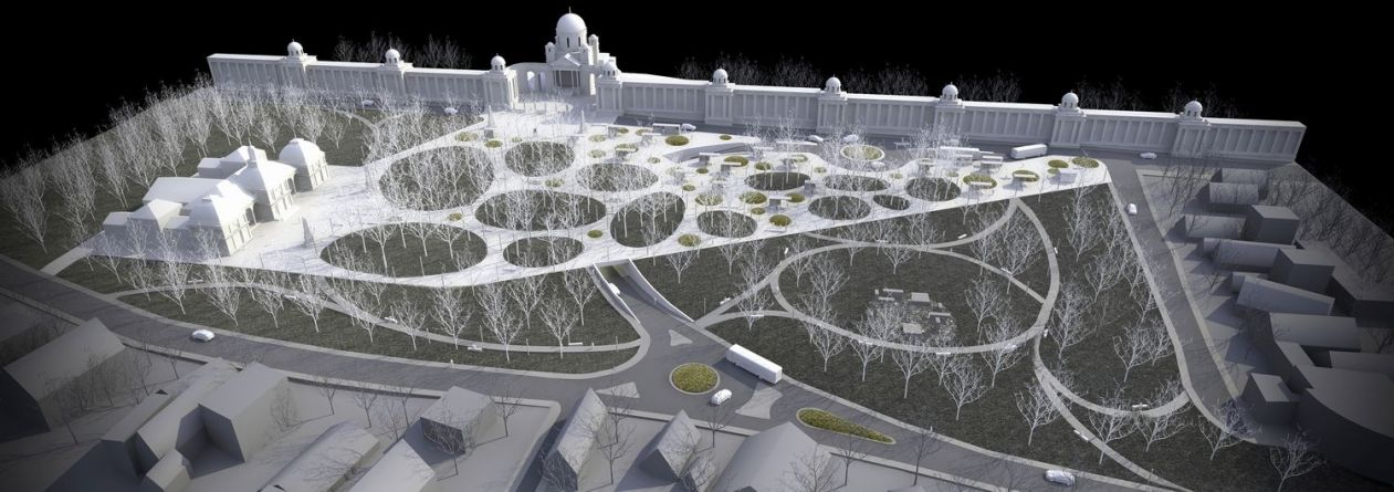 Mirogoj park and chapel design- competition, urbanism, erick velasco farrerar, avp arhitekti